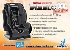 Autosedačka Caretero Diablo XL LIMITED EDITION
